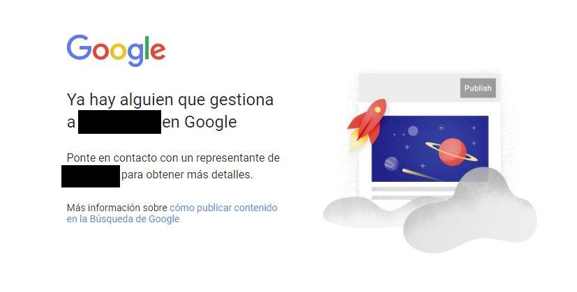 Verificar tu identidad en Google. Cuenta ya verificada